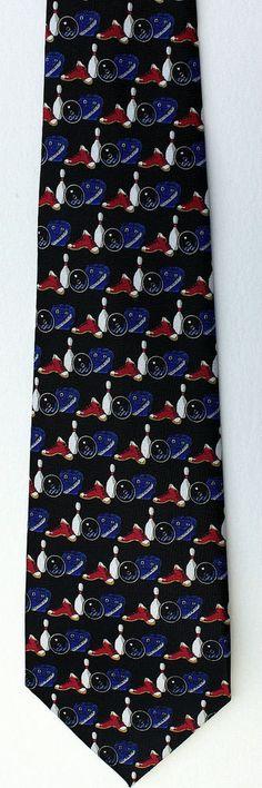 Teal /& Orange Bowling Balls Mens Necktie Bowl Sports Bowler Gift Novelty Tie