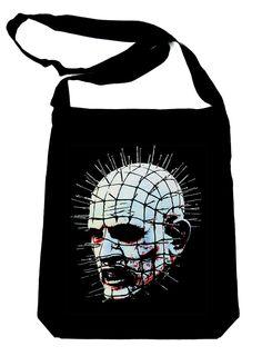Pinhead Hellraiser on Black Sling Bag Horror Book Bag