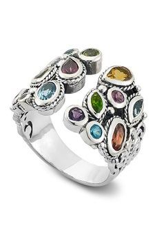 Samuel B Jewelry Stainless Steel Multi Gemstone Open Design Ring , Shopping Websites, Ring Designs, Sterling Silver Jewelry, Bracelet Watch, Cuff Bracelets, Kids Outfits, Gemstone Rings, Style Inspiration, Mens Fashion