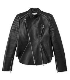 3.1 Phillip Lim Moto Leather Peplum Jacket - Leather Jacket - ShopBAZAAR