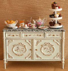 Dollhouse Miniature Furniture Vintage by LaBelleEpoqueBoudoir.