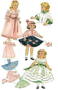 Free Printable Doll Clothes Patterns | Sewing Doll Clothes - Vintage Doll Clothes Pattern