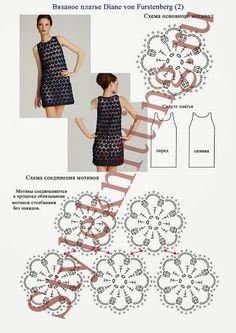 Crochet en circulation: Robe