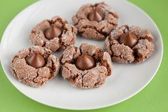 Triple Chocolate Peanut Butter Blossoms #tasteamazing #holiday #recipe #cookies