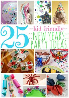 25 Kid-Friendly New Years Eve Party Ideas http://www.playideas.com/25-kid-friendly-new-years-party-ideas/