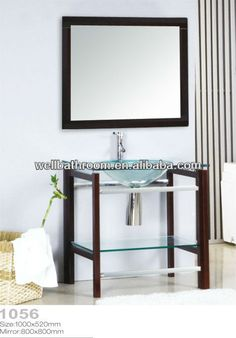 Tempered Glass Basin  1.15MM Tempered Glass for Basin  2.5MM Silver Mirror  3.any color is available   4.Solid Wood bracket