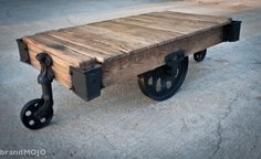 Luggage Cart For a Coffee Table... Love!