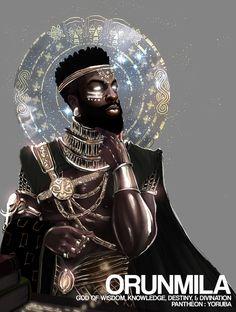 ArtStation - Oshun Goddess of Love, Christopher Pompey African Mythology, African Goddess, Black Love Art, Black Girl Art, African American Art, African Art, African Paintings, Yoruba Orishas, Yoruba Religion