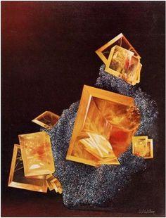 Wulfenite - Mineral Art - Wilson   Rock & Gem-