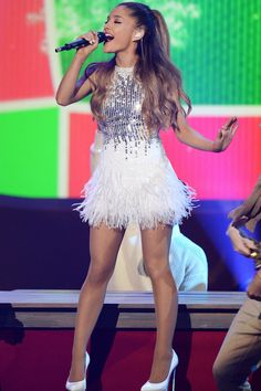 Ariana performs on stage during the 2014 MTV EMAs on Nov. 9, 2014, in Glasgow, Scotland. Getty -Cosmopolitan.com