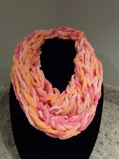 Arm Knitted Infinity Scarf by IdleHandsCrochetKnit on Etsy