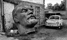 Head of Lenin-statue in Nordhausen (former GDR)