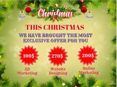 This Christmas 🎅we give a 10%🎉 Discount to all of our Packages   So Hurry Up 🎯  Don't Miss the Opportunity for a Perfect Website   Contact with us and Start your designing Today   📩Info@nuevosys.com ☎️+919556212749 Online Marketing, Digital Marketing, Christmas Offers, Opportunity, Website, Design