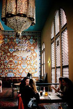 Bazar Restaurant in Albert Cuyp market: http://www.bazaramsterdam.nl/.....