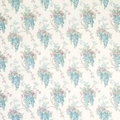 Wisteria Duck Egg/Pistachio Floral Curtain Fabric