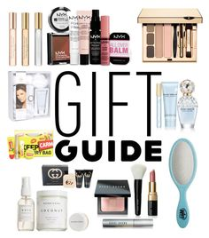 """""""Gift Guide: WOMEN'S EDITION"""" by brittcmidfielder ❤ liked on Polyvore featuring NYX, Marc Jacobs, Bobbi Brown Cosmetics, The Wet Brush, Herbivore, Daisy Fuentes, Gucci and Donna Karan"""