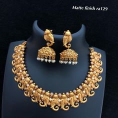 760024167e5 Temple jewellery available at AnkhJewels for booking msg on +91 9619291911.