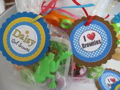 End of the year goody bag tags for Girl scout - Brownie and Daisy troops!!