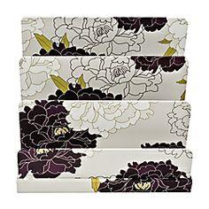 See Jane Work Paperboard Letter Sorter, Floral