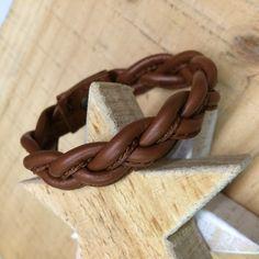 Braided Bracelets – Leather bracelet, a unique product by Ses-Estrelles on DaWanda