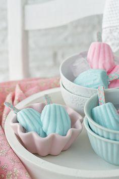 Helados Madeleine con sabor a fresa {Y como hacer helados caseros sin heladera} - Megasilvita