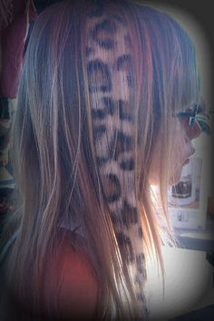 Leopard Print Hair Extension by hairclipsbytiph on Etsy Epic Hair, Awesome Hair, Braided Hairstyles, Cool Hairstyles, Leopard Print Hair, Cool Hair Color, Hair Colors, Hair Color Highlights, Hair Blog