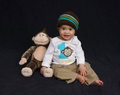Personalized+Birthday+Mod+Monkey+Tshirt+or+Onesie+for+by+slmeccage,+$20.00