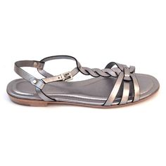 Silver 36.5 EUR - 6.5 US (244mm) Tods ladies flat sandal XXW0MD0A060SV0B210
