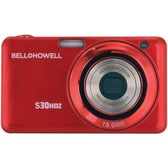 Bell+howell 15.0 Megapixel S30hdz Slim Digital Camera With 5x Optical Zoom (red)