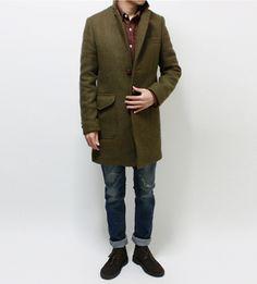 move to tweed // winter style, topcoat, desert boots, denim