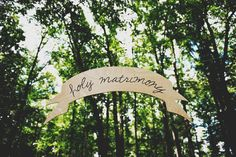 Large wood wedding banner or bunting