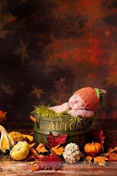 Pumpkin Pie Newborn Hat Photography Prop by cuteasababysbutton, $22.00 / fall newborn photos - minus the backdrop.