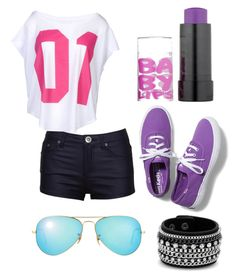 """""""Untitled #26"""" by sbfreshwater ❤ liked on Polyvore featuring moda, Ray-Ban, Keds, NIKE, Red Herring y Maybelline"""
