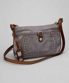 Take a look at this Bronze Studded Crossbody Bag by Kenneth Cole Reaction on #zulily today!