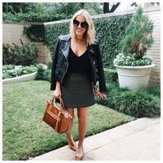 Sunday's best ... printed skirt, leather jacket & my go-to @giginewyork handbag ⚡️  http://liketk.it/2pfJj @liketoknow.it #liketkit // #KERRentlyWearing