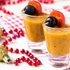 Verrine de soupe de crevettes brésilienne