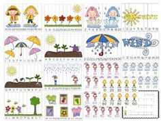 April Showers Bring May Flowers Math Stations 10 different Activities/Stations!!!