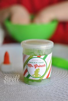 Grinch Gunk! A Very Grinchy Christmas (Party On a Budget) by One Swell Studio #Grinch