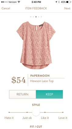 good casual and work top... and it's pink (spring color!) I'll have to wear it with something darker though. - W