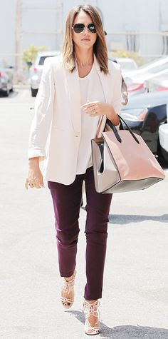 Look of the Day - July 10, 2014 - Jessica Alba in Max Mara and Julia Korol from #InStyle