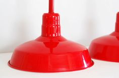 Red pendant lights for over the bar