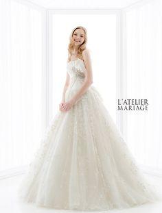 L'ATELIER MARIAGE(ラトリエマリアージュ):WHH019 レンタルウェディングドレス 大阪/東京/福岡
