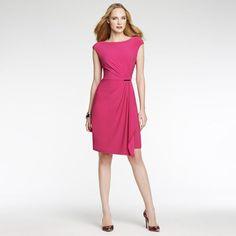 Anne Klein: New Arrivals > Jersey Gold Bar Dress