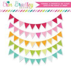 Outlined Banner Flag Clipart – Erin Bradley/Ink Obsession Designs