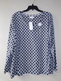 NEW Pimma cotton Charter Club womens shirt 2X 100% pimma cotton Luxury Woman #CharterClub #Blouse