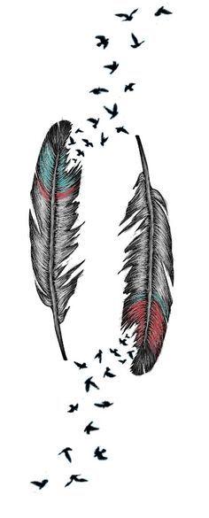 Feather Tattoo by AlliMonae.deviantart.com on @deviantART