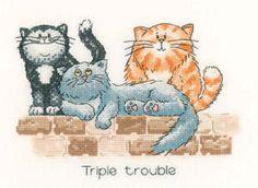 Triple Trouble - Cat's Rule Cross Stitch