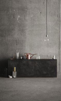 Concrete in the kitchen - via Coco Lapine Design