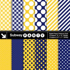 INSTANT DOWNLOAD Navy Blue and Yellow Digital by subwayParty, $3.45  https://www.etsy.com/listing/157771601/instant-download-navy-blue-and-yellow?ref=sr_gallery_3&ga_search_query=Digital+Letters&ga_order=date_desc&ga_view_type=gallery&ga_page=22&ga_search_type=all