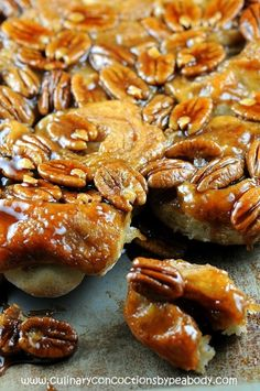 Banana Bread Sticky Buns - So the next time you have extra bananas, instead of making the standard banana bread why not go the sticky bun route instead?    by culinaryconcoctionsbypeabody #Buns #Bread #Banana
